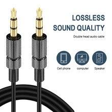 1m/2m/3m aux linha de áudio 3.5mm macho a 3.5mm cabo de áudio do carro estéreo aux linha de áudio público 3.5mm cabos digitais