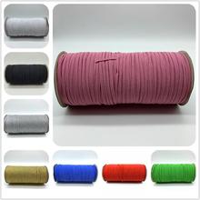 5 m lot 3mm szycie gumką kolorowe wysokie elastyczne Fiat gumowa opaska na pas zespół rozciągliwa linka elastyczna wstążka tanie tanio CyanRafts Polyester 5 Yards U pick