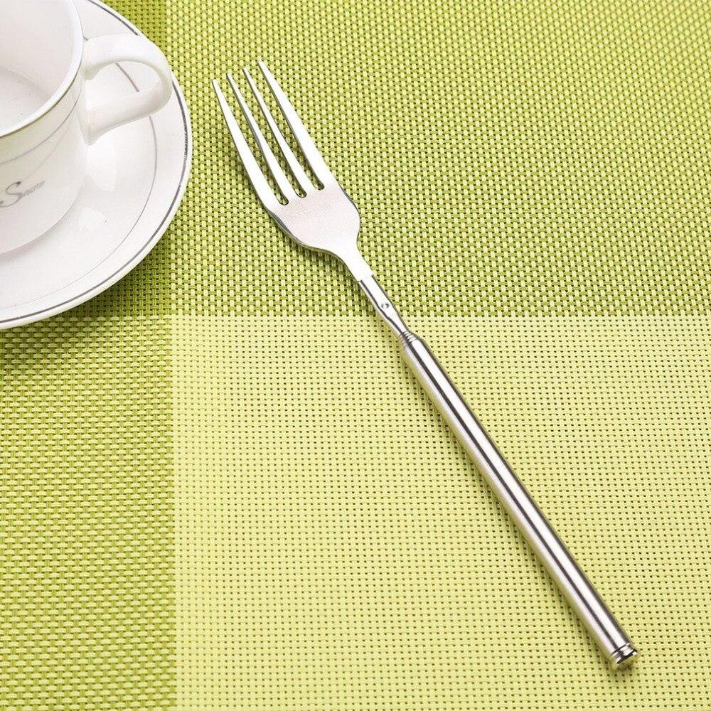 Нержавеющая сталь удобный столовые приборы вилка для Кофе Чай десерт
