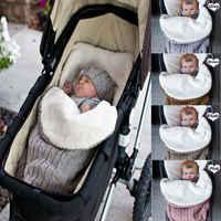 2019 bebê sacos de dormir forro do bebê footmuff carrinho de criança assento de carro malha fuzzy inverno quente sleepwear bebê envolve