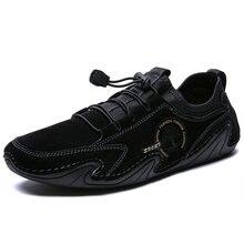 Мужские замшевые туфли натуральная кожа удобная летняя обувь