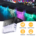 Светодиодный светильник на солнечной батарее, наружный светильник на солнечной батарее, водонепроницаемый RGB + теплый белый забор, светильн...