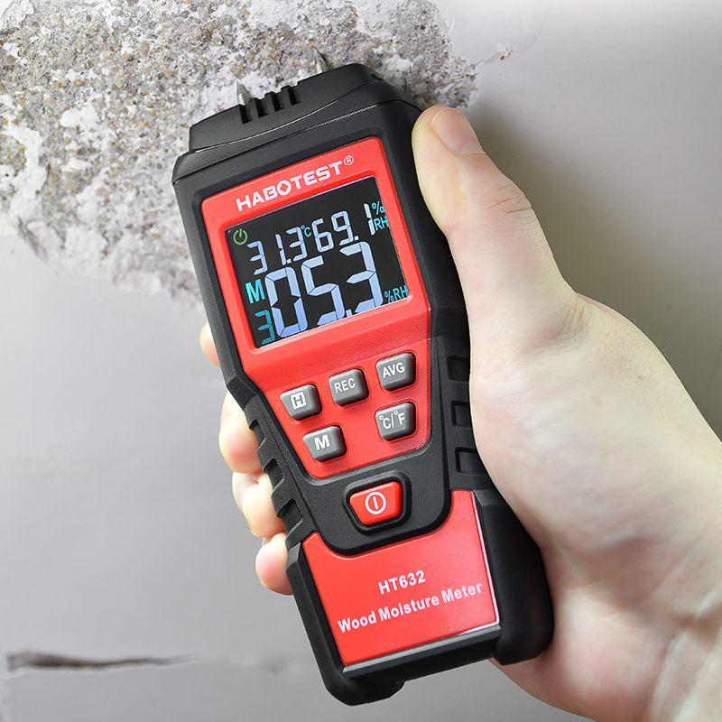 Tools : HABOTEST 0-99 9percent Digital Wood Moisture Meter Wood Humidity Tester Hygrometer Timber Damp Paper Concreate Cement Detector Tester