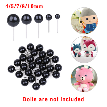 100Pcs/set Glass Eyes 4/5/8/10 mm Needle Felting Teddy Bears Dolls Animals Black for DIY Hand Made Toy Doll Accessories