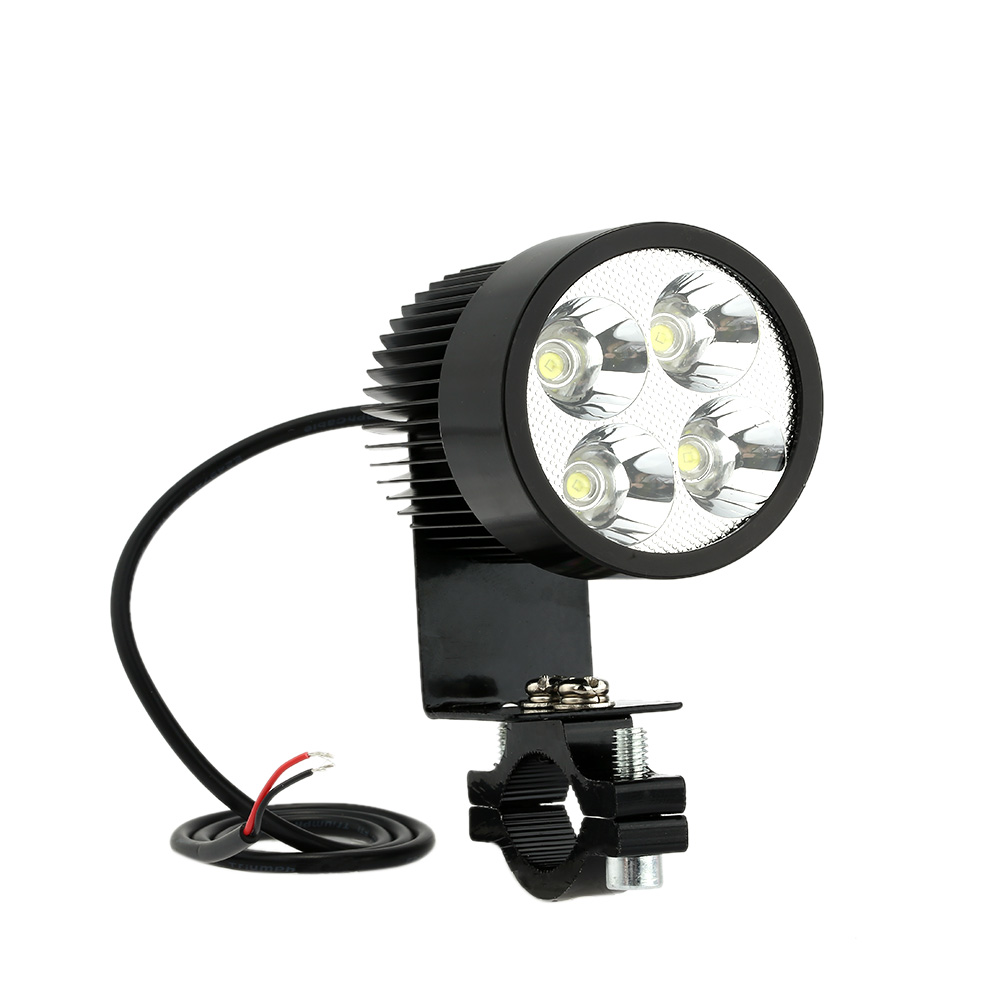 12V-80V 20W Motorcycle LED Headlights 6000-6500K Aluminium Alloy Lamps For Motorcycle E-bike Lights