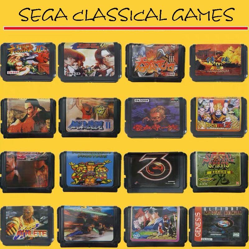 Stock 16 Bit Video Game Cartridge Region Free EUR/JAP Shells Sega Game Card Randomly Send!