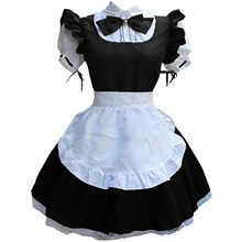 Apron Costume Women Dress No Outfits Clothing Robe Lingerie Headwear Maid Fake-Collar