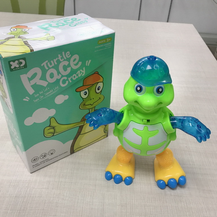 Electric Light And Sound Turtle Toy Walk Dancing Multi-functional Universal Green Cartoon Turtle Hot Selling