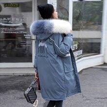 Veste femme hiver chaud, manteau à capuche, col en fourrure, veste brodée, veste femme, épaisse et chaude rembourrée en coton vêtements dextérieur, grande taille, Parka longue
