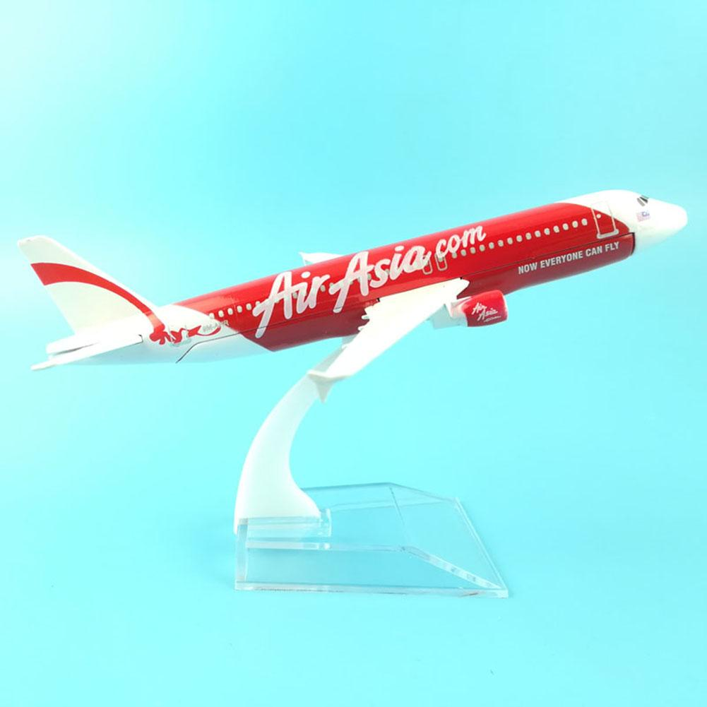 1/400 Air Asia A320 Alloy Plane Collection Model 16CM Airplane Metal Plane Model Aircraft Model Building Kits Toy image