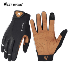 WEST BIKING Men Bicycle Gloves Half Finger Non-slip Gloves MTB Road Gloves Mountain Bike Gym Gloves Breathable Cycling Gloves cheap Polyester Synthetic Leather Universal YP0211196-197 Washable Gloves Mittens Black Brown S M L XL Breathable fabric PU leather