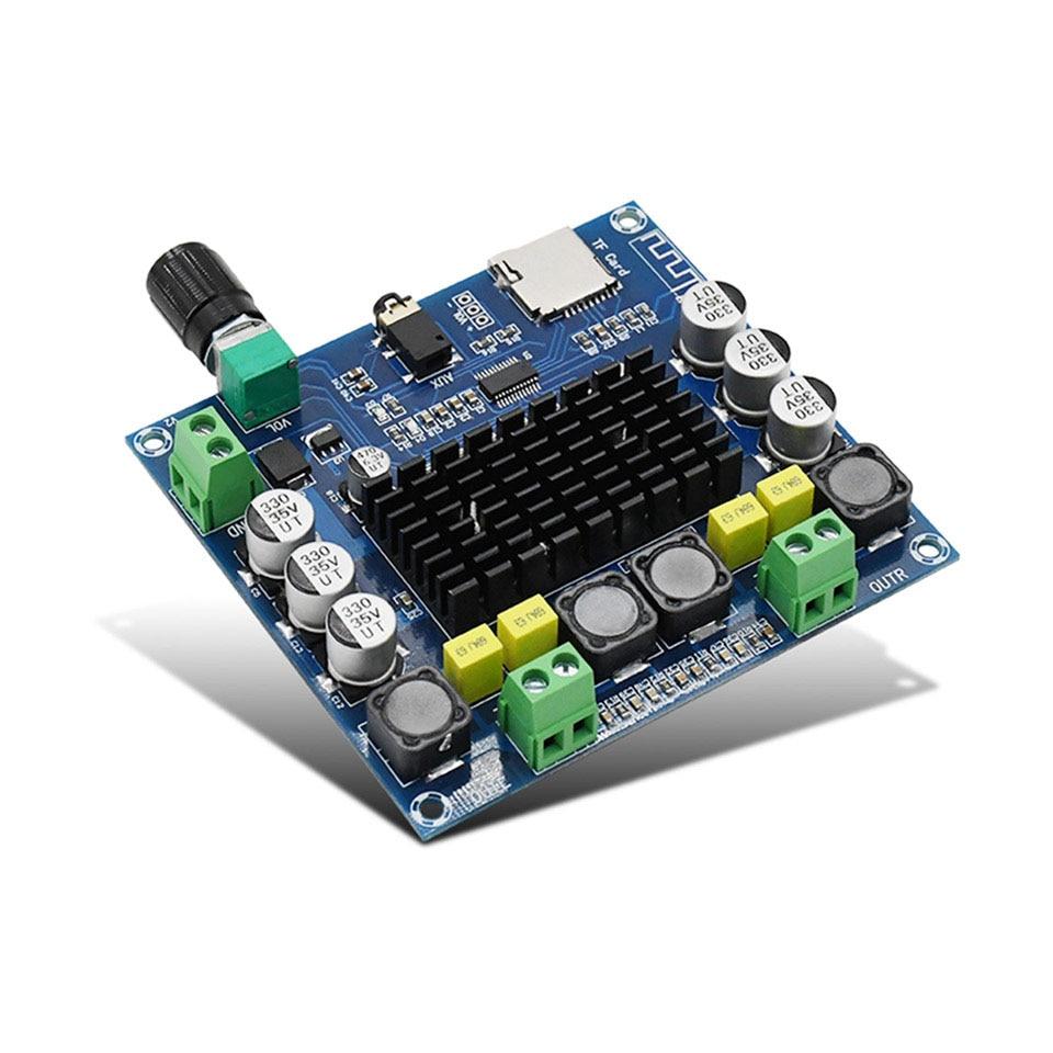 TDA7498 Bluetooth усилитель аудио Плата 2x50 Вт стерео цифровой усилитель мощности модуль Поддержка TF карты AUX для домашнего кинотеатра