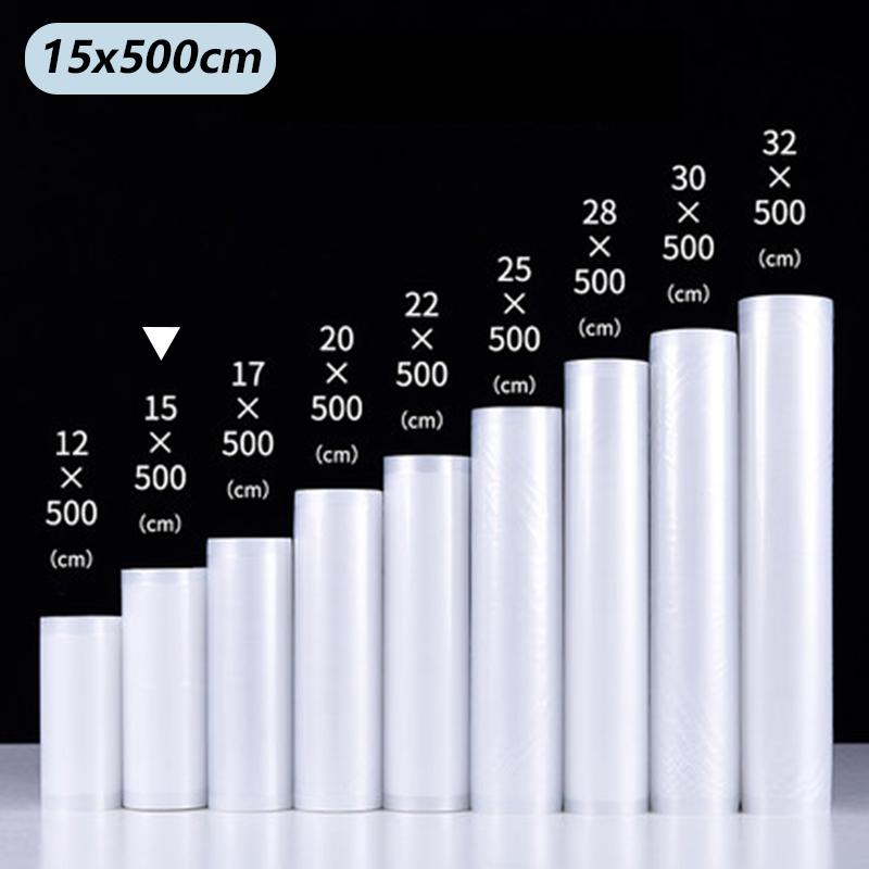 Vacuum Food Sealer Bags Roll Storage Bag For kitchen Packaging Sealing Machine Fresh Keeping 12 15  17 20 22 25 28 30 32*500cm