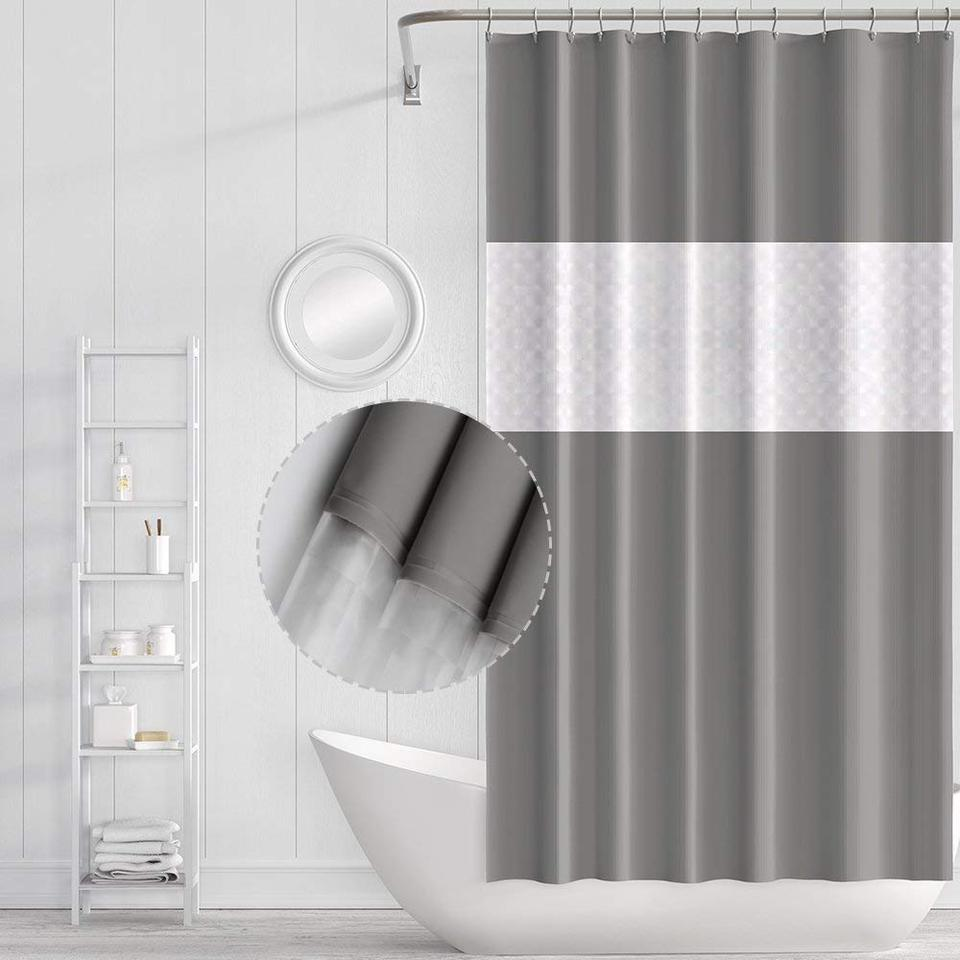 Ufriday Plastic Eva Shower Curtain