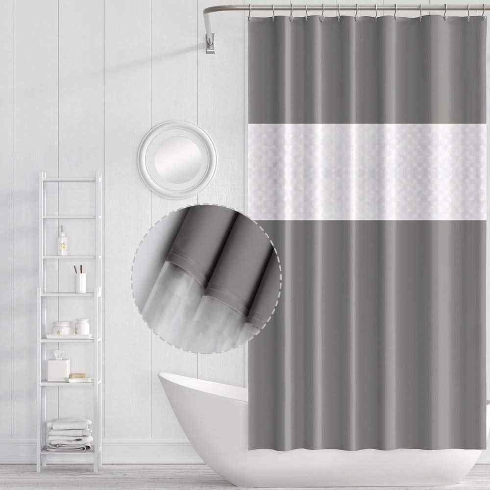 3D Printed Waterproof EVA Bathing Shower Curtain Bathroom Curtain Hook 180*200cm