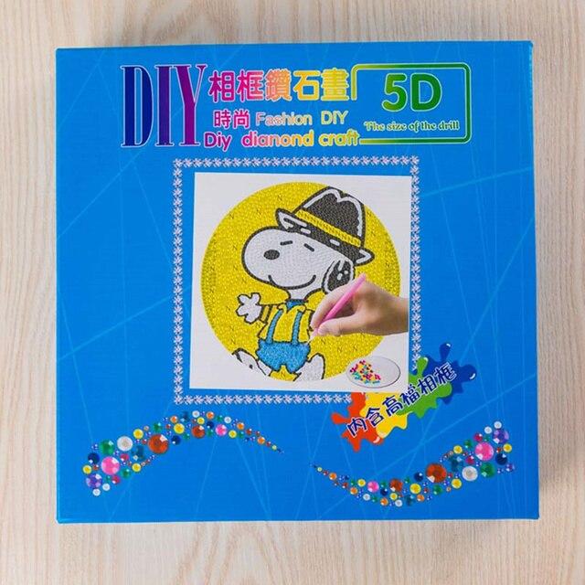 2020 NEW Special Shaped Drill Cartoon Round Frame Diamond Painting 5D DIY Diamond Mosaic Cross Stitch Animal Christmas Gift