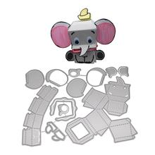DishyKooker Cartoon Elephant Cutting Embossing Dies New Metal Craft Dies for Scrapbooking naifumodo dies lace frame metal cutting dies new 2019 for scrapbooking card making album embossing die cut new template