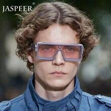 JASPEER Oversized Square Sunglasses Men Women Flat Top Fashi