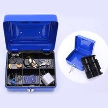 Cofre de metal para armazenamento, caixa de armazenamento de joias com caixa de cofre para dinheiro certificação de certificação