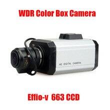 "Gratis Verzending True WDR 1/3 ""Sony Dubbele Scan 960 H CCD Effio V DSP 750TVL ~ 800TVL Ontwaseming CCTV Monitoring Box Camera CS Mount w/OSD"