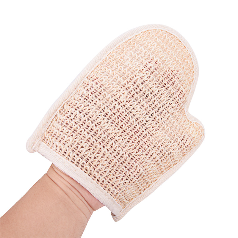 1pc Dirt Rubs Back Blood Bath Glove Bath Hemp Shower Tubs Remove Bath Exfoliating Gloves Bath Sauna Accessories