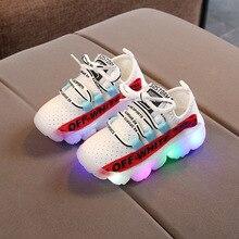 Детская обувь со светодиодной подсветкой для девочек; новые осенние детские кроссовки; спортивная обувь для мальчиков с подсветкой; теннисные кроссовки; infantil