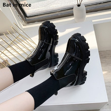 women pumps derss Ankle Martin boots shoes women Platform Casual Round Toe zippe