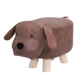 Solid Wood Cartoon Animal Children's Stool Creative Small Chair Cowstool Elephant Sofa Stool Bench Replacement Footstool Househo