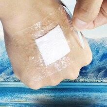 10 ピース/ロット超薄型緊急応急処置包帯通気性バンドエイド防水包帯バンドエイド粘着創傷医療