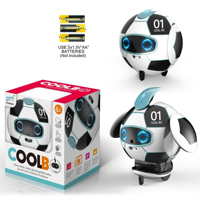 Intelligent Soccer Robot Talk Singing Dancing Repeat Touch Sensing Deformation