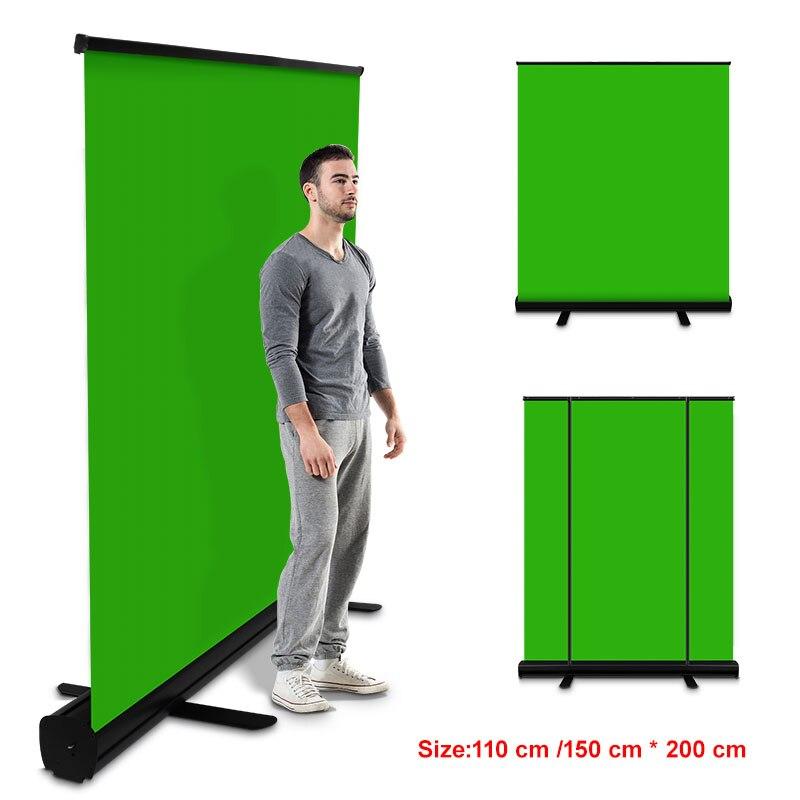 PYNSSEU 150 см * 200 см для фотостудии складной зеленый Экран фон-хромакей тянуть стоячая подставка для YouTube видео игры виртуальной студии