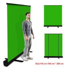 Pynsseu 150Cm * 200Cm Achtergrond Inklapbare Groen Scherm Chromakey Achtergrond Pull-Up Stand Voor Youtube Video Game virtuele Studio