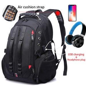 Image 4 - Male 45L Travel backpack 15.6 Laptop Backpack Men USB Anti theft Backpacks for teens schoolbag youth mochila women backbag