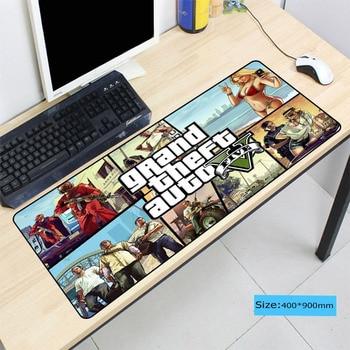 Grand Theft Auto GTA, alfombrilla de ratón grande para Gamer, alfombrilla para teclado y ratón, alfombrilla de ratón de velocidad de juego para CS GO LOL Dota2
