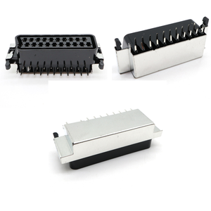 Image 1 - CS 107 PBE 21Pin way SCART Jack set top set top box STB Socket Connector With shield  double dual row pcb mount