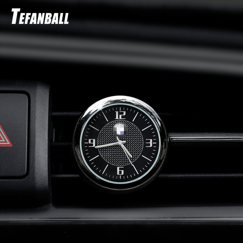 For BMW Audi Volkswagen Mercedes Honda Ford Toyota Peugeot Car Clock Luminous Table Refit Interior Quartz Watches Car Ornaments