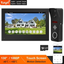 TUYA Smart IP Intercom WiFi Video Intercom für Home 7 Zoll Monitor Touch Screen 1080P Türklingel Kamera Drahtlose Video tür Telefon