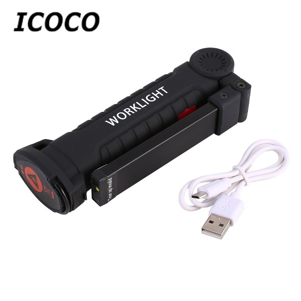 ICOCO Mini stylo multifonction COB LED lumière de travail Inspection réparation torche lampe de poche avec pince de Base magnétique pour atelier de vélo