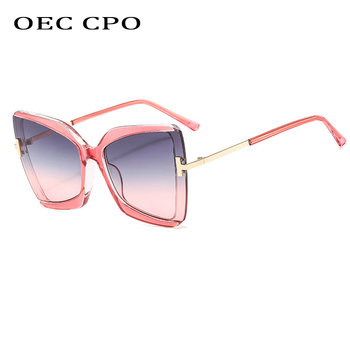 цена на OEC CPO Fashion Half frame Sunglasses Women Big Frame Trending Cat eye Sunglasses Woman/Men Vintage Glasses UV400 O618