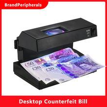 Detector de billetes falsos de escritorio portátil, Detector de dinero en efectivo, billetes de banco, comprobador de notas, soporte UV ultravioleta y lupa