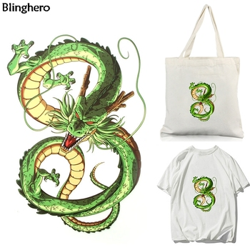 Blinghero Cool Cartoon Dragon Heat Transfer Patch Anime Thermal Iron-on Personality Clothing Accessory BH0572