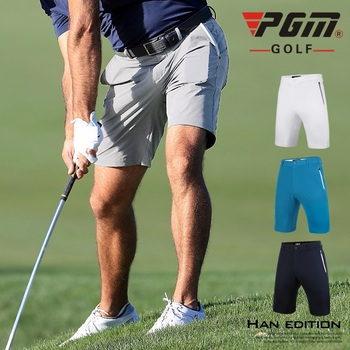 PGM letnie spodenki golfowe sportowe spodenki męskie elastyczne krótkie spodenki cienkie elastyczne męskie spodnie dresowe wygodne otwory wentylacyjne XXS-XXXL tanie i dobre opinie COTTON Poliester Pasuje prawda na wymiar weź swój normalny rozmiar CC0040 Stałe