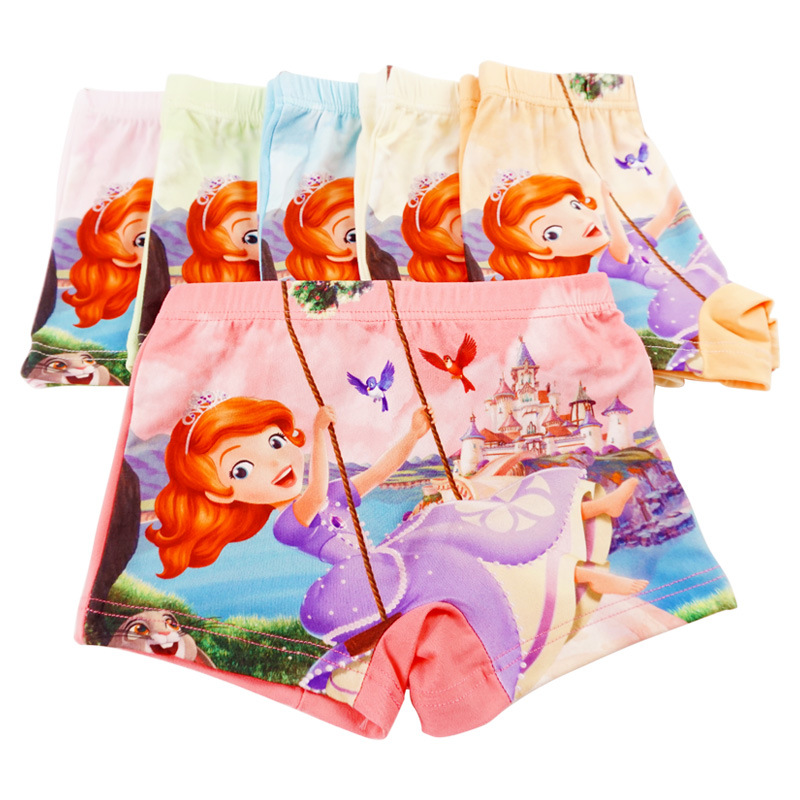 3pcs/Lot Children Girls Cartoon Sofia Cute Underwear Kids Cozy Cotton Underpants Infant Baby Girl Panties Boxer Briefs Panty