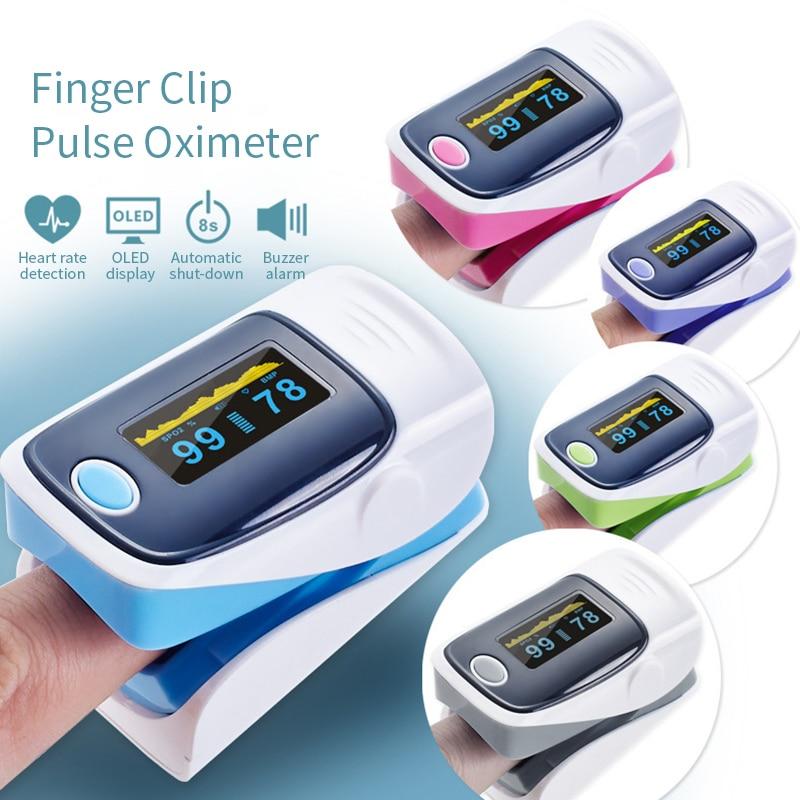 Oximetro Pulse Oximeters Finger Pulse Oximeter Portable Heart Rate SPO2 Monitor FingerBlood Oxygen Meter Sensorpulse Oximeter