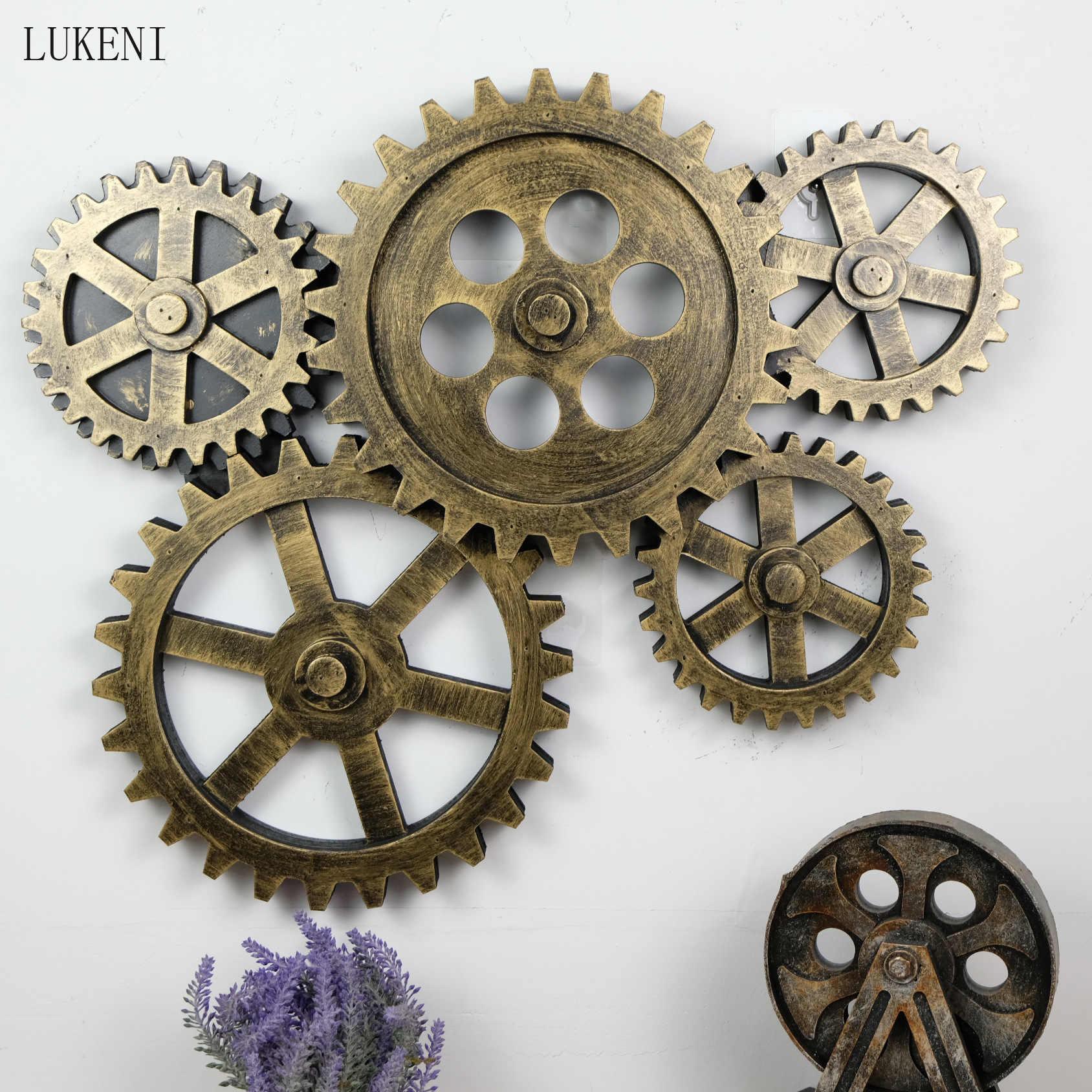 Engranaje de Madera Colgante Rueda Dentada Vintage Artesanía de Bricolaje