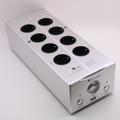Bada 5610, enchufe de la UE, potente filtro, toma de corriente de 2 canales, filtro de fuente de alimentación con USB y Medidor de vu que se muestra