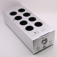 Bada 5610 EU plug Power Filter Schuko Socket 2 channel Power Supply Filter With USB and vu meter shown