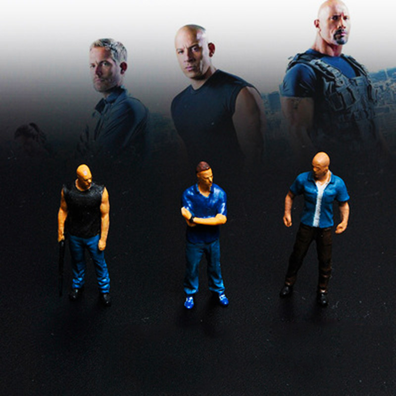 Vin Diesel Dominic Toretto 1:18 1:64 Car Model Scene Decoration Character Resin Doll Model Movie Character Movable Figure