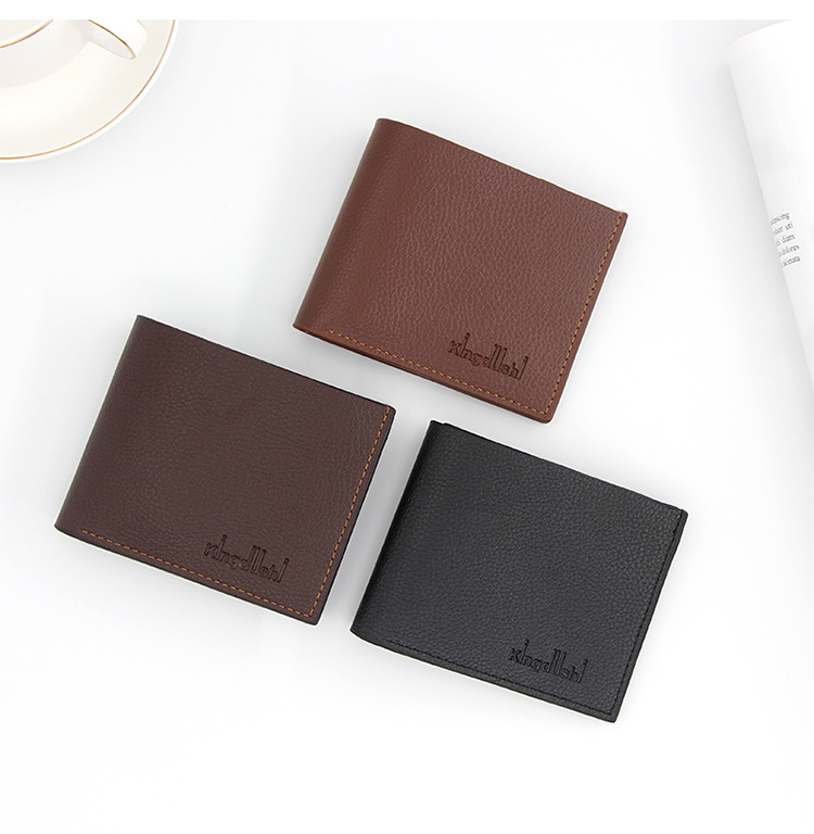 Men's Leather Brand Luxury Wallet Short Men's Wallet Credit Card 2020 Top Vintage Litchi Peel Wallet Purse Brand Wallet