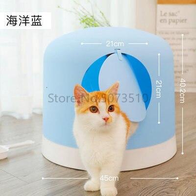 Умывальник для кошачьего туалета, полностью закрытый, очень большой дезодорант, дезодорант, влагозащищенный, кошачий Туалет, кошачий Туалет, котенок, товары для домашних животных - Цвет: 3